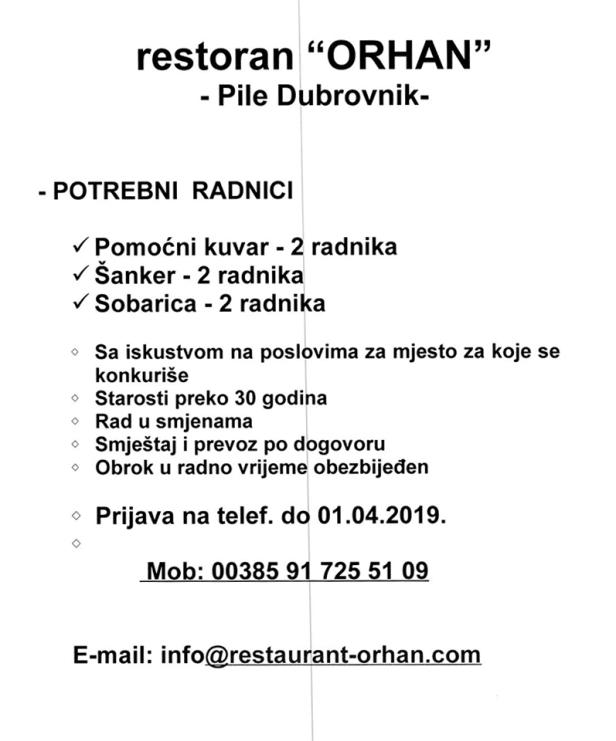 Restoran ORHAN Dubrovnik